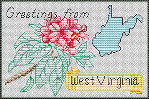 Angela Pullen Atherton for Kreinik Factory Outlet Store, WV